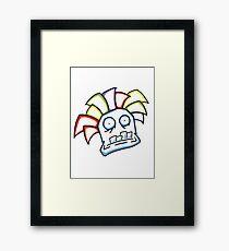 Retro Tiki Mask Framed Print