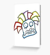 Retro Tiki Mask Greeting Card