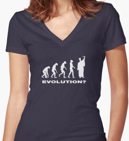 Evolution  Women's Fitted V-Neck T-Shirt