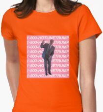 Hotline Trump Womens Fitted T-Shirt