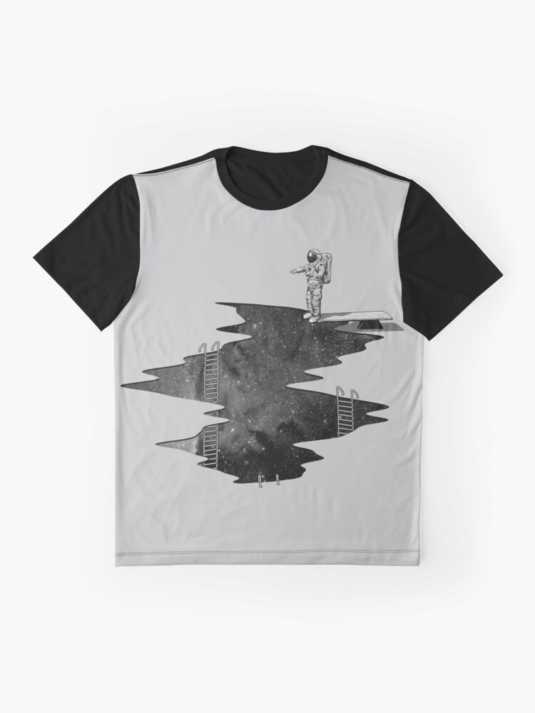 Alternate view of Space Diving Graphic T-Shirt