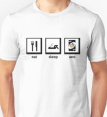 eat, sleep, uno (+4 uno card game) Unisex T-Shirt
