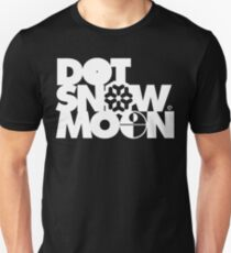 Dot Snow Moon (White Text) Unisex T-Shirt