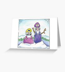 A Wario & Waluigi Christmas Greeting Card