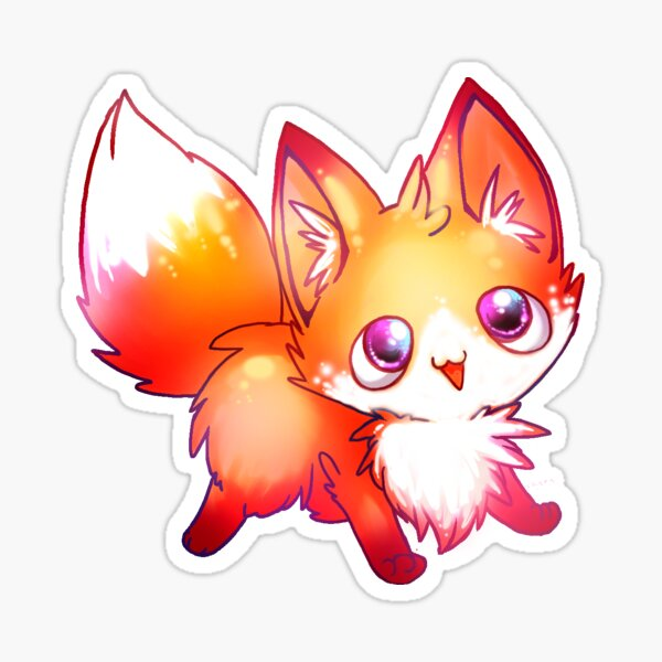kawaii fox Sticker