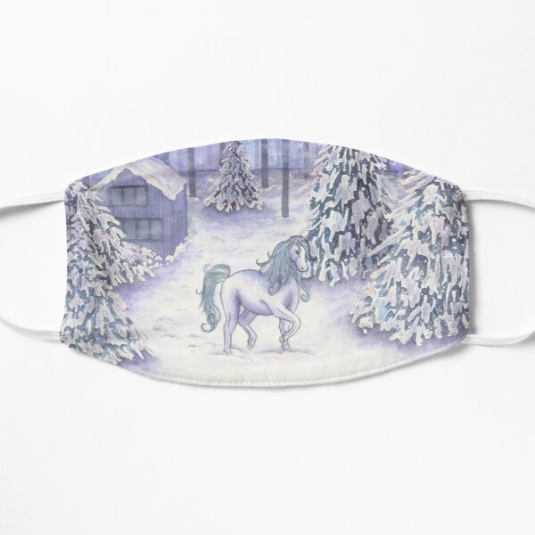Enchanted Christmas Unicorn  Small Mask