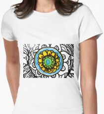 Colorful Floral Pattern Womens Fitted T-Shirt