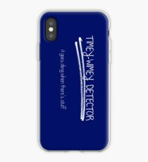 Timey-Wimey Detector. It goes ding when there's stuff. iPhone Case