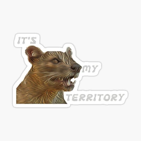 WILD MADAGASCAR FELINE FOSA FELINE MADAGASCAR LIKE A LION BY AXOREYAT Sticker