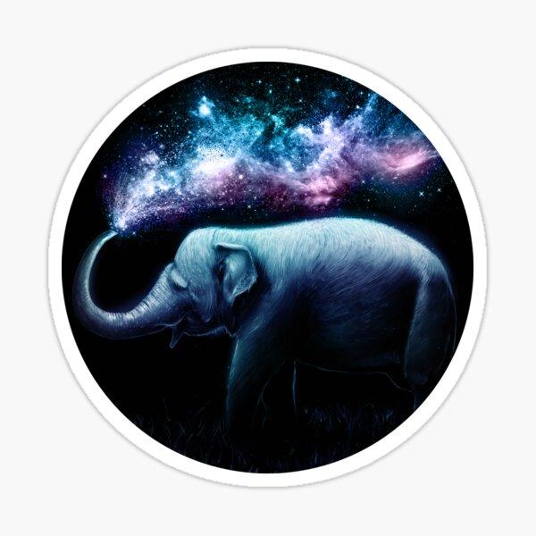 Elephant Splash Sticker