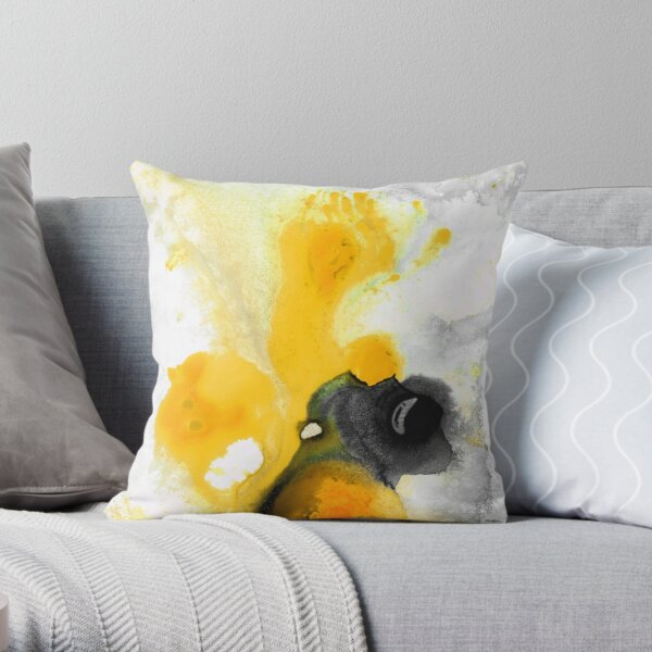 Yellow Orange Abstract Art - The Dreamer - By Sharon Cummings Throw Pillow