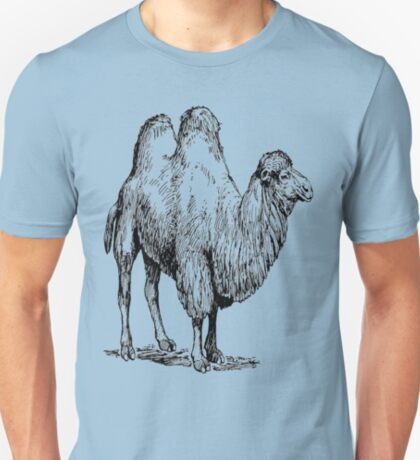 Bactrian Camel Vintage Illustration T-Shirt