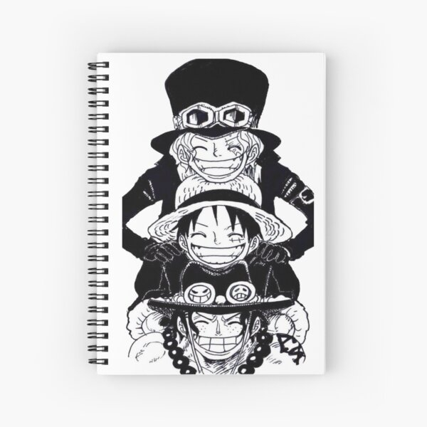 One piece Ace, Sabo and Luffy Spiral Notebook