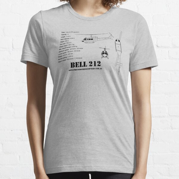Bell 212 Twin Huey Helicopter Essential T-Shirt