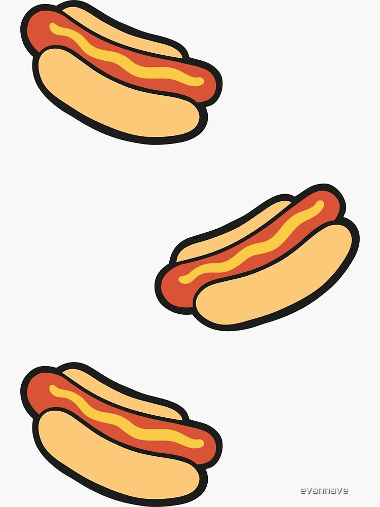Hotdog Pattern on Lilac by evannave