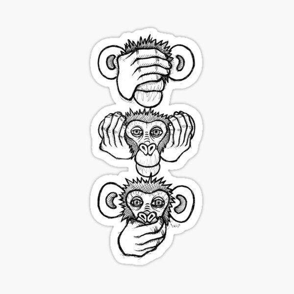 See no evil, hear no evil, speak no evil Sticker
