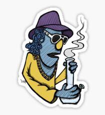 Zoot Smoking Weed Sticker