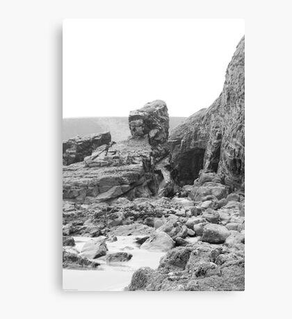 Rocks at Newgale Sands Canvas Print