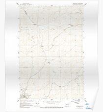 USGS Topo Map Washington State WA Oakesdale 242892 1964 24000 Poster