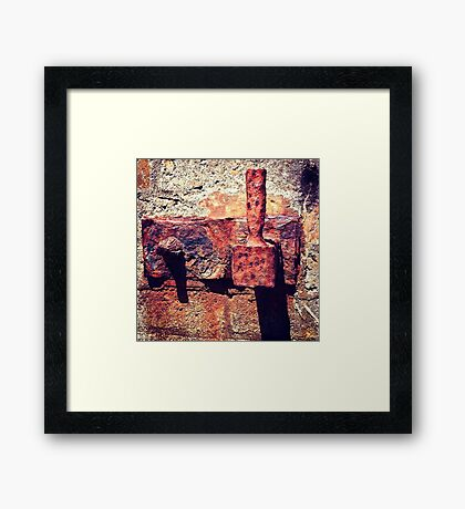 Rusty Door Hinge Framed Print