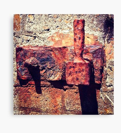 Rusty Door Hinge Canvas Print