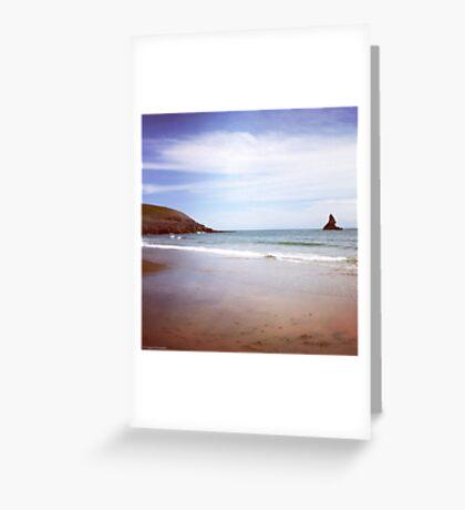 Broadhaven beach Greeting Card