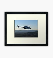 JetRanger in Flight, NSW Framed Print