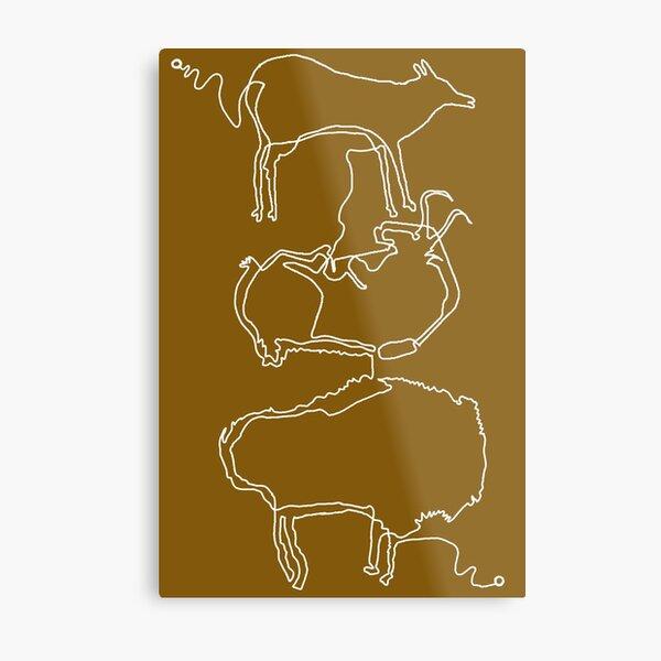 Paleolithic One Line Drawing 03: Altamira Metal Print
