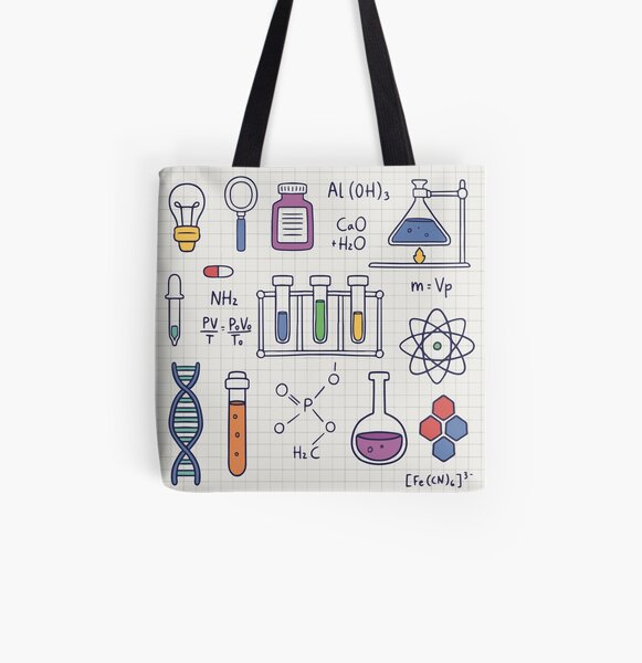 Amazing Chemistry All Over Print Tote Bag