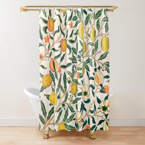 Fruit or Pomegranate - William Morris  Shower Curtain