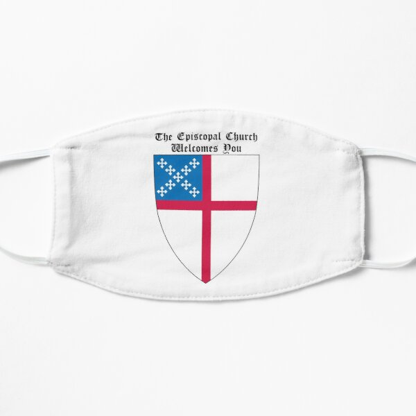 The Episcopal Church Shield with Welcomes You 2 Flat Mask