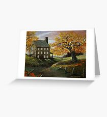 Autumn Manor Greeting Card