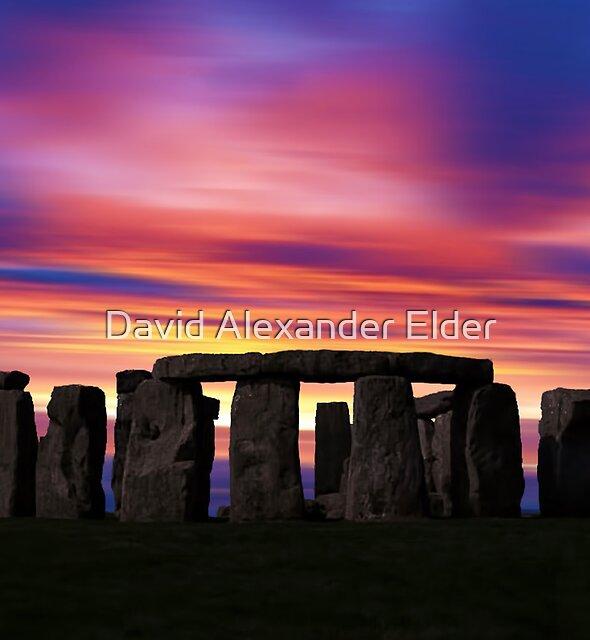 Stonhenge New Age Dawn by David Alexander Elder
