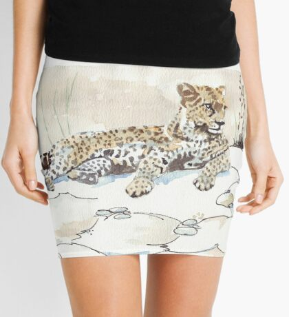 African Leopard {Panthera pardus} 'Luiperd' Mini Skirt