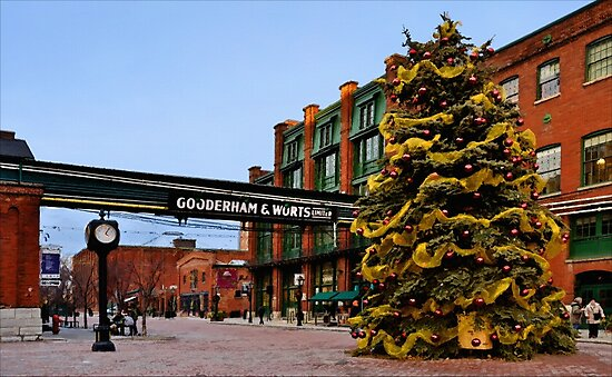 A December Afternoon in the Distillery District by Gerda Grice
