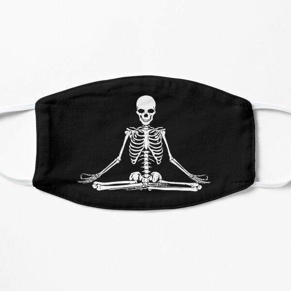 Meditating Skeleton Flat Mask
