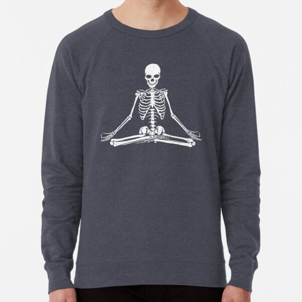 Meditating Skeleton Lightweight Sweatshirt