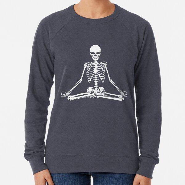 Meditating Skeleton Lightweight Sweatshirt