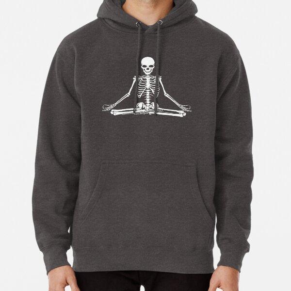 Meditating Skeleton Pullover Hoodie