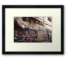 Laneways Framed Print