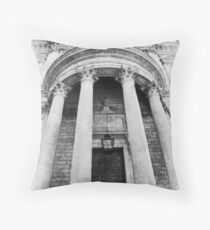 The Front of St Paul's Cathedral Throw Pillow