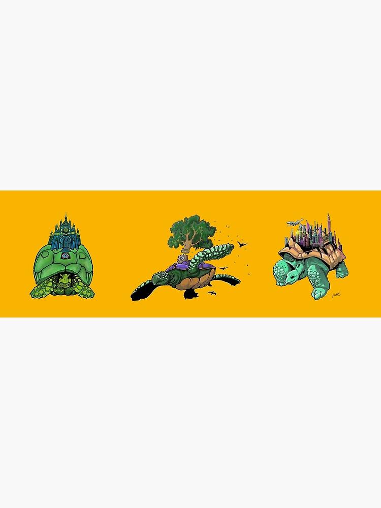 Telekinetic Tortoise Tryptych by ShinyRedNothing