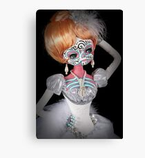 Zieggy day of the dead handpainted doll photo Canvas Print