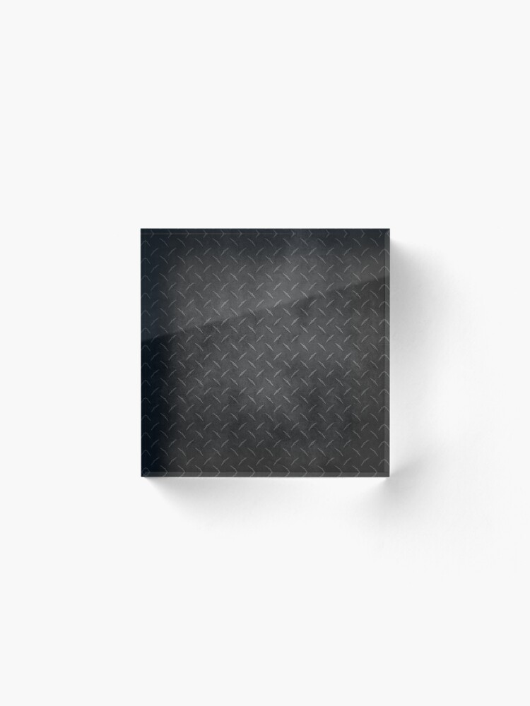 Alternate view of Rustic Metal Diamond Plate Acrylic Block