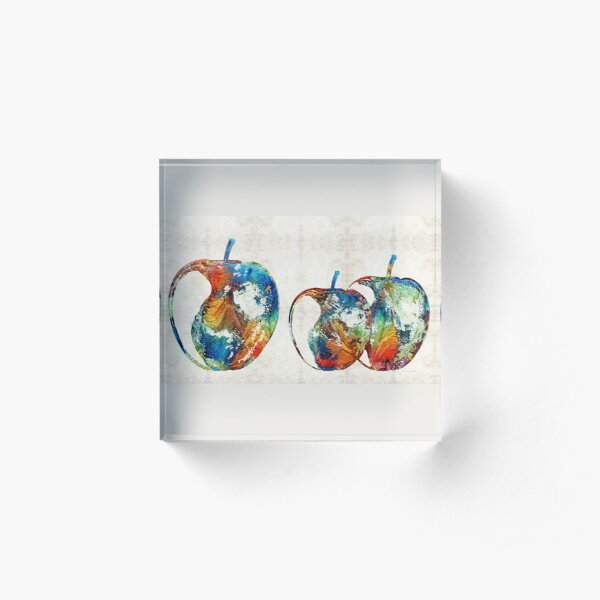 Colorful Apples by Sharon Cummings Acrylic Block