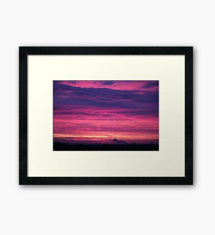 Midsummers Day Sunrise 2012 Framed Print