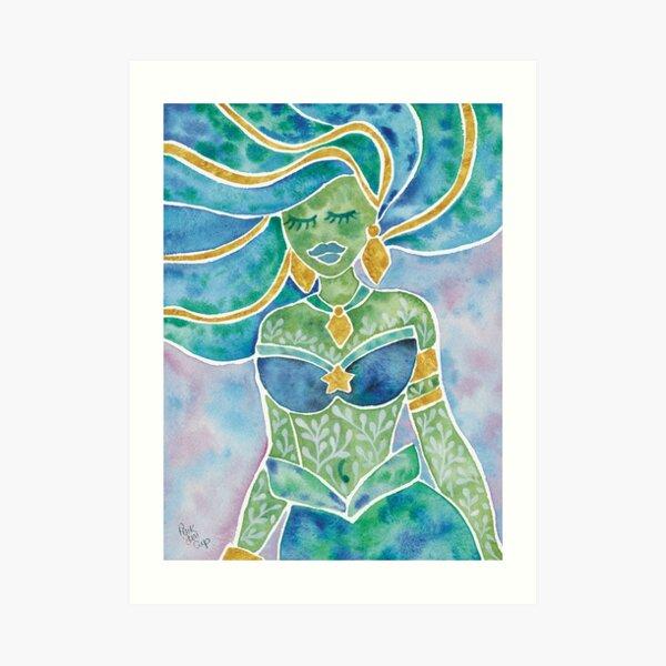 Watercolour Mermaid Art Print