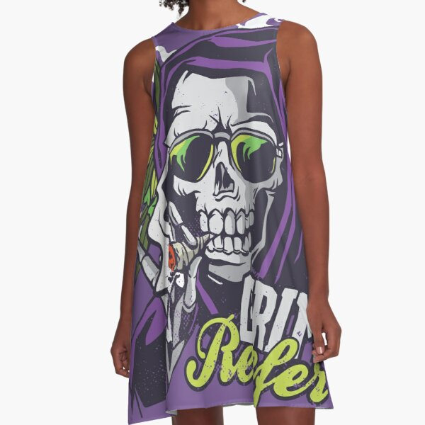 GRIM REEFER A-Line Dress