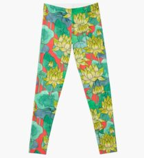 Lotus Flower - Yellow Leggings