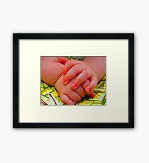 Groovy Little Man Hands Framed Print